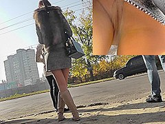 Autumn video upskirt with a lonely girlfriend