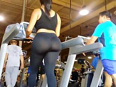 JOM: Extremely Fat Ass on Treadmill!!!! regular motion