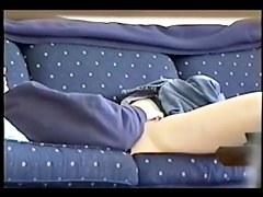 Home alone Masturbation on couch