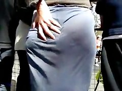 Street voyeur filmed a sexy bitch with nice butt