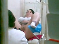 Clip is showing a medical exam of a stunning chick