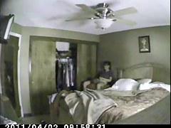 Voyeur sex video shows a couple shagging