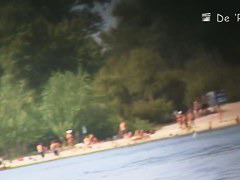 Nudist beach video of a blonde fitty, and a big boobed foxy lady
