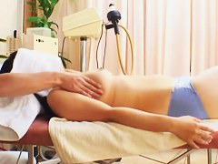 Massage turns into doggy style + right angle with long haired Asian hoe