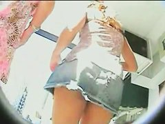 Fine asses on video, two chicks shopping upskirt porno video