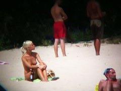 Beach XXX porno totally nude bitches and blonde w/ nice boobies