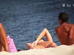 Beach voyeur hunter that spied one nude pussy and cock