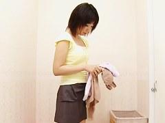 Hot lingerie erotically wraps dressing room girl