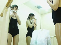 Hot view of changing room girl tiny tits and beaver
