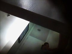 Guy with voyeur cam approached the dressing room spying fem