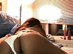 Spy video cam caught a naughty couple shagging