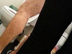 wife voyeur in bathroom