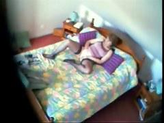 My mummy watching porno magazine and masturbating