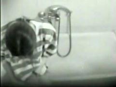 Hidden cam. My girlfriend masturbating in bathroom