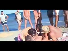 Public beach fun
