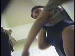Change room spy cam vid with fem that towels body after pool