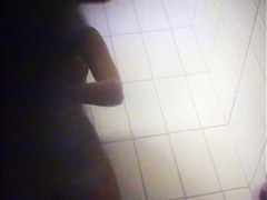 Dressing room spy scenes with nude girls after shower