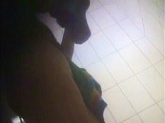 Nude after shower amateur gets on changing room spy cam