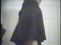 Amateur fem gives topless and pantieless view on spy cam