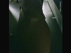 Nude babe showering and dressing up in changing room spy vid