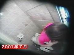 Hidden toilet spy cam shoots girl masturbating and pissing