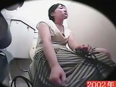 Girl slid hand up the skirt for hidden spy cam masturbation