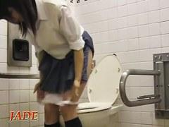 Hot schoolgirl in the horny upskirt masturbation scenes