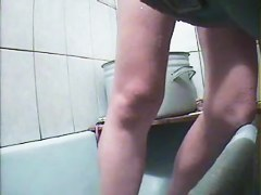 Hidden cam is shooting babe masturbating in the bath