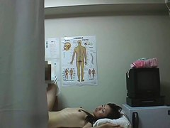 Voyeur massage video shows some naughty play in the massage room