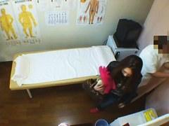 Amateur girl is in ecstasy on this massage voyeur movie
