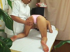 Voyeur massage video with Asian orgasm from deep fingering