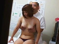 Lovely cutie feels shy to get the sex voyeur massage