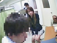 Asian girl gets pussy and ass slits on medical voyeur porn