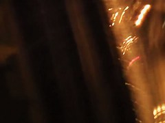 Girl bares off her candid ass pissing on the night road