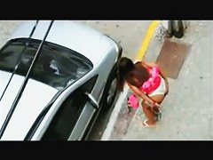 Candid voyeur girls shamelessly pissing on the road