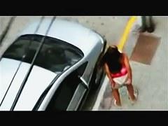 Candid voyeur girls shamelessly pissing on the road