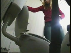 Amateur females that got their asses on pee toilet cam