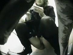 Nice and hot girl on voyeur toilet video