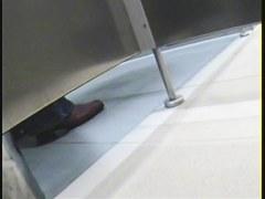 Slim babe is the main heroine of toilet voyeur stories