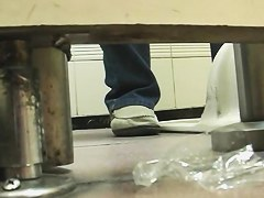 Girls pee in public toilet and get spy closeups on the cam