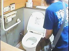 Real amateur girls pissing on the public toilet video