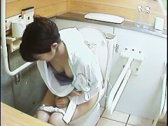 A number of women pissing in toilet on horny video