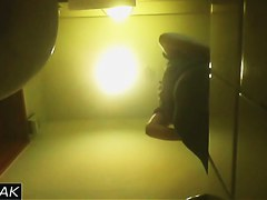 Girl with hot butt is pissing on real amature voyeur scenes