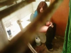 Real amateur spied on real voyeur cam pissing on bowl