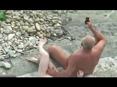 White haired Chest Daddy Hidden Beach