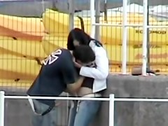 Public sex video clip with two horny lovers