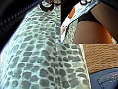 Spy upskirt video close-up