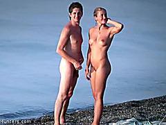 Naked babe cuddling