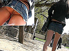 Hip a-hole up model's petticoat