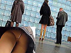 Upskirt video with subway angel